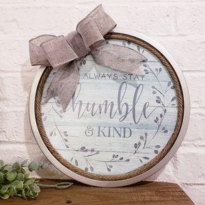 "Humble & kind farmhouse door wreath 12"""